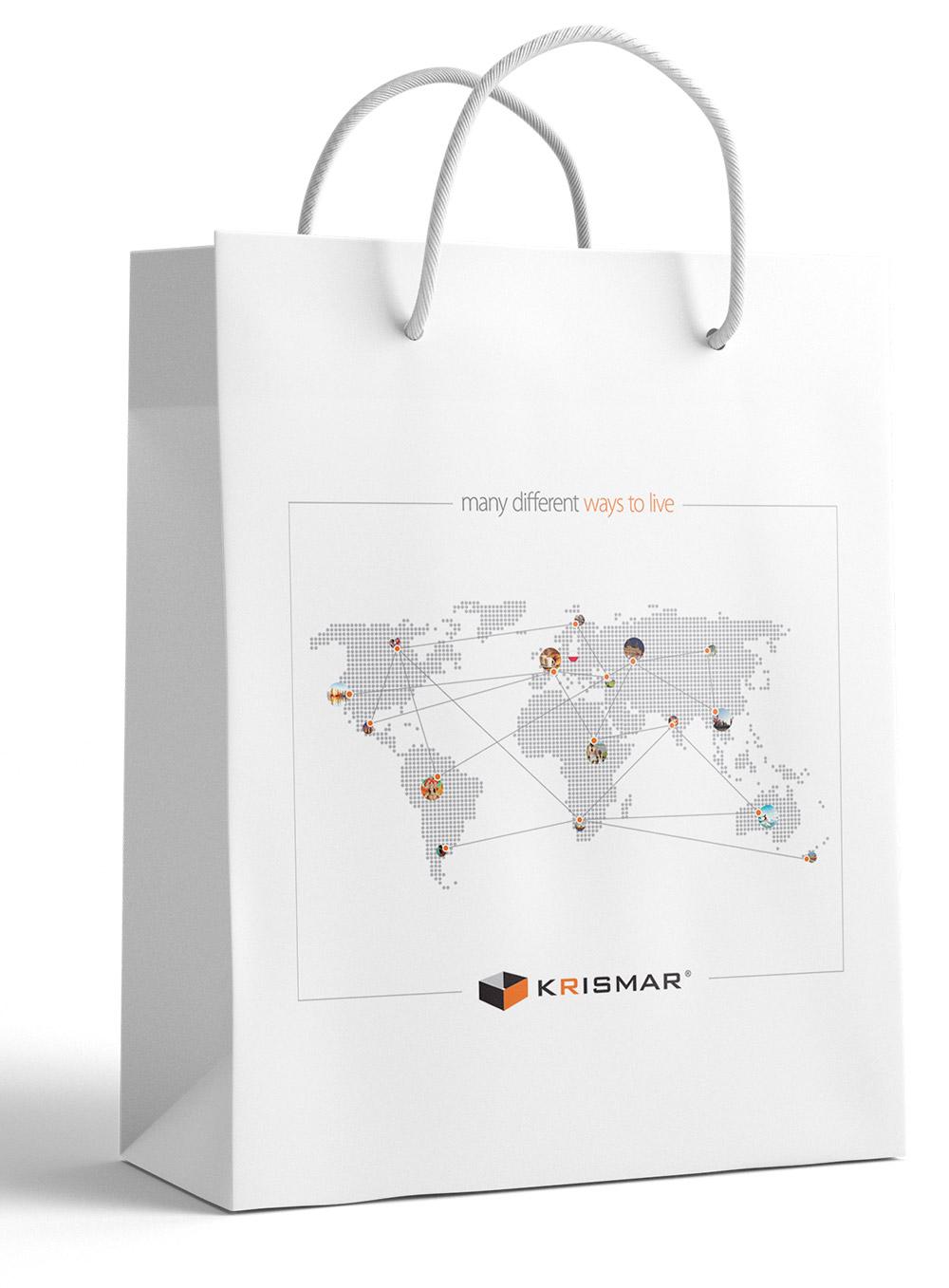 Krismar edycja 2016 projekt i druk papierowych toreb reklamowych